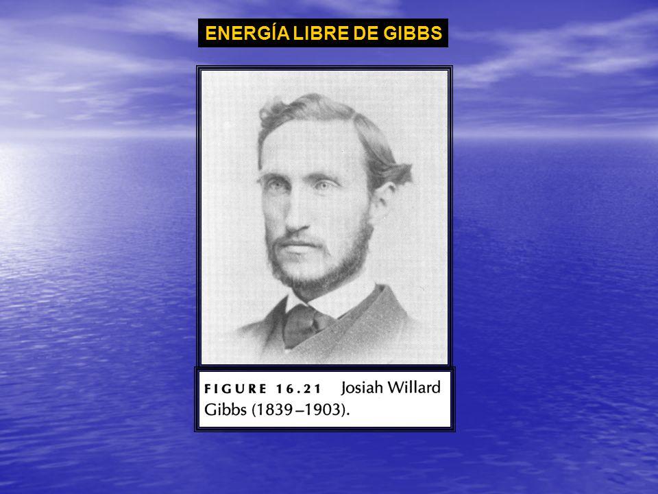 ENERGÍA LIBRE DE GIBBS