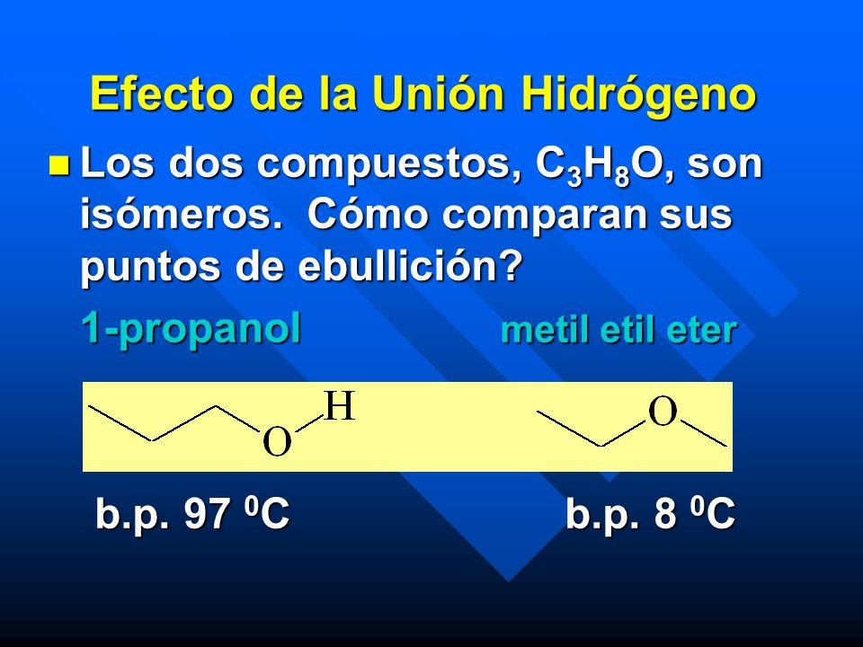Efecto de la Unión Hidrógeno