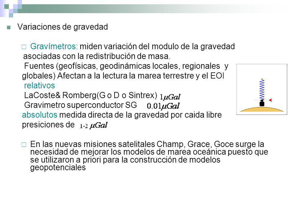 Variaciones de gravedad