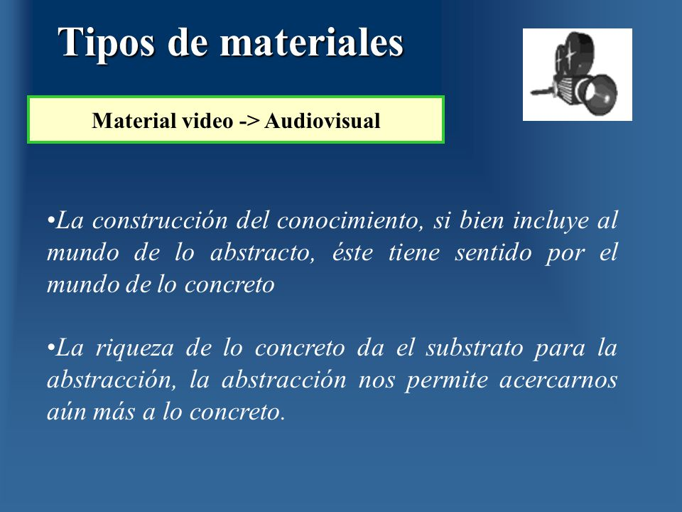 Material video -> Audiovisual