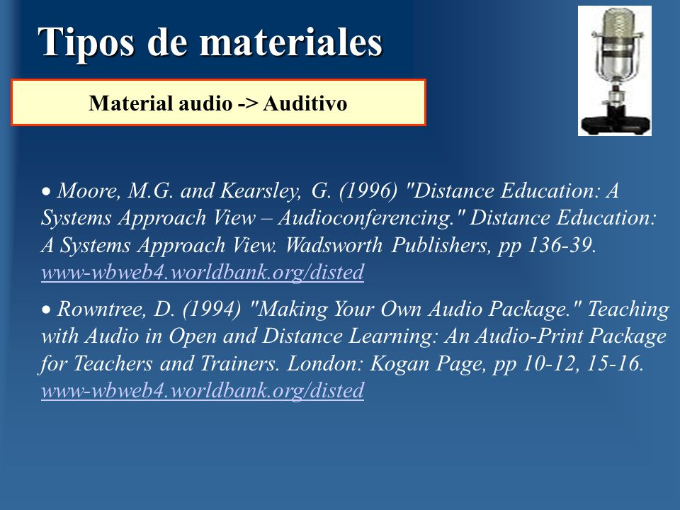 Material audio -> Auditivo