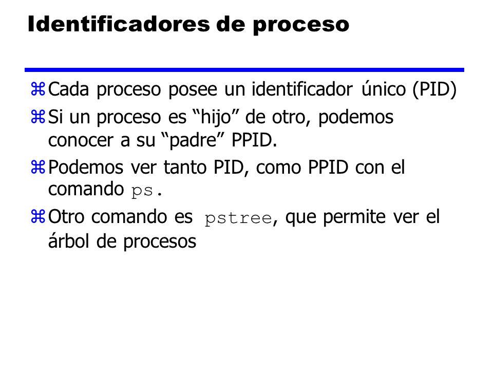 Identificadores de proceso