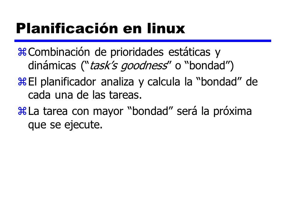 Planificación en linux