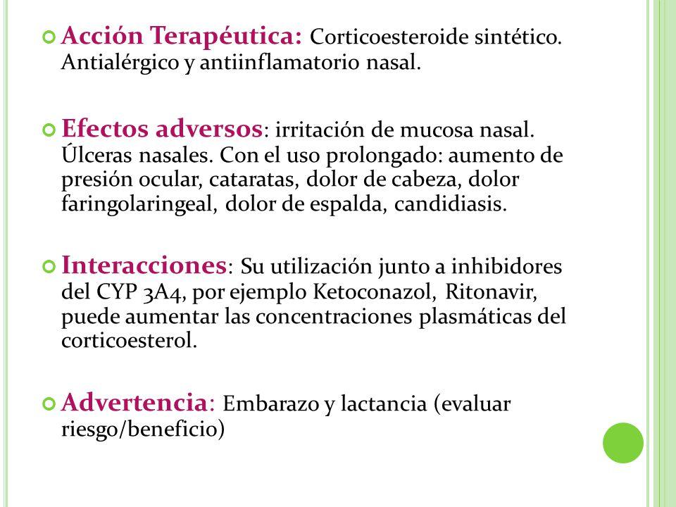 Acción Terapéutica: Corticoesteroide sintético