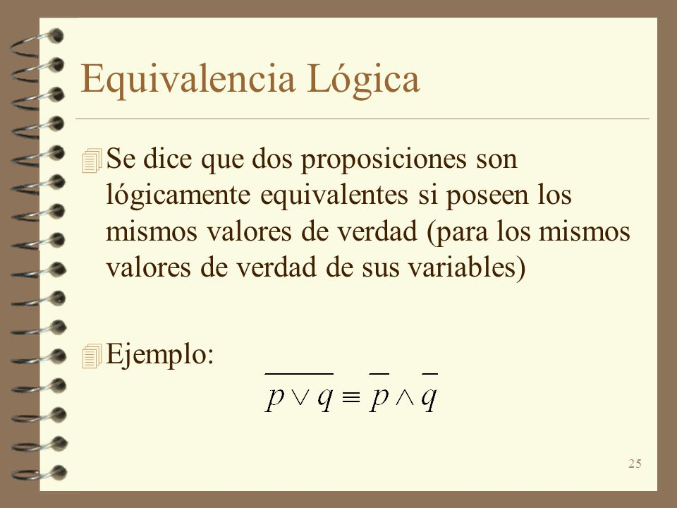 Equivalencia Lógica
