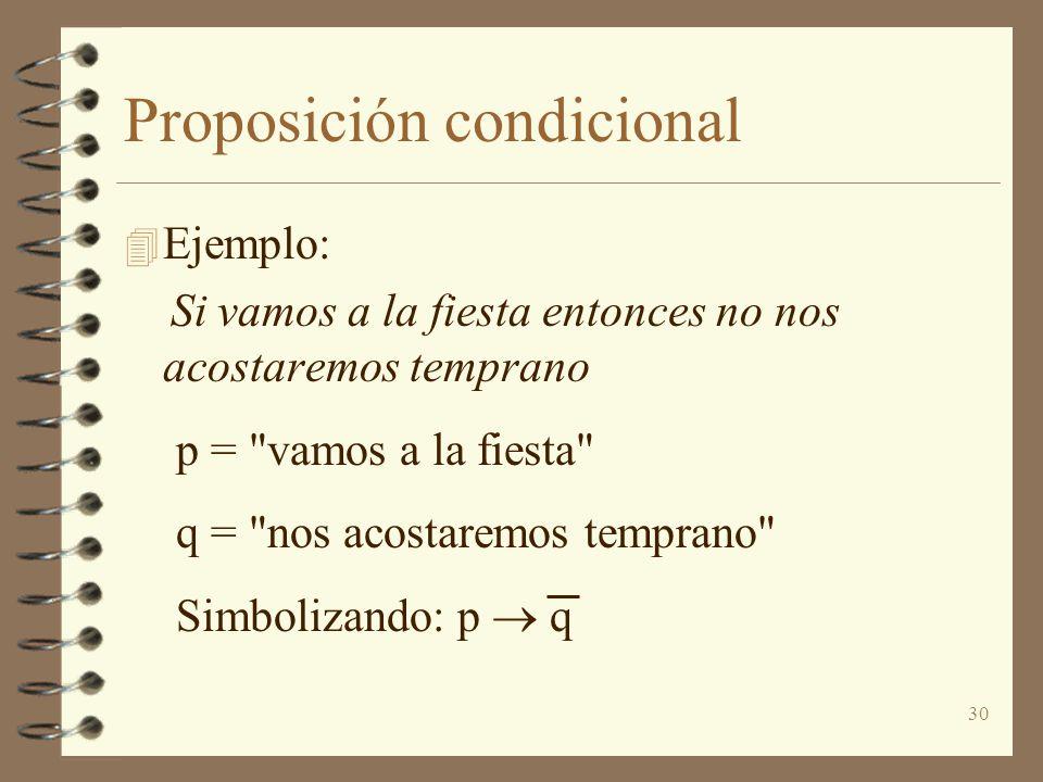 Proposición condicional