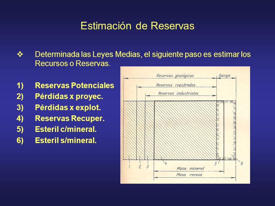 Estimación de Reservas
