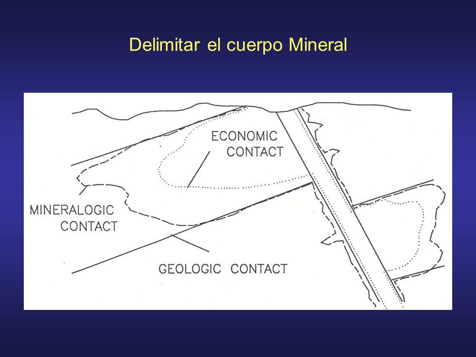 Delimitar el cuerpo Mineral