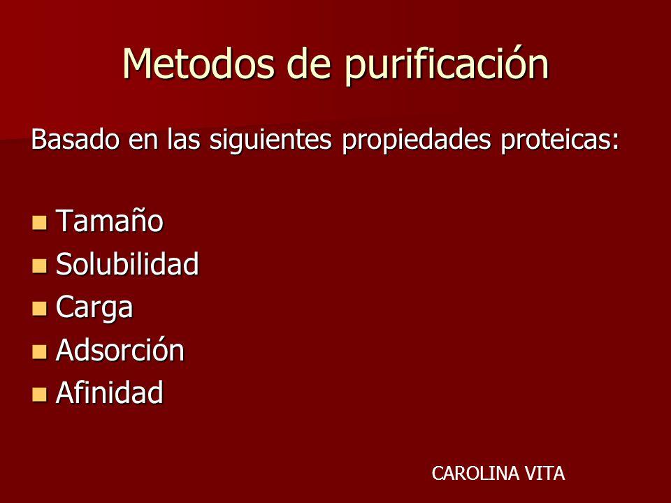 Metodos de purificación