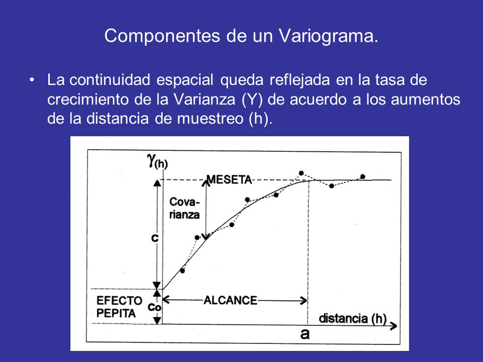 Componentes de un Variograma.