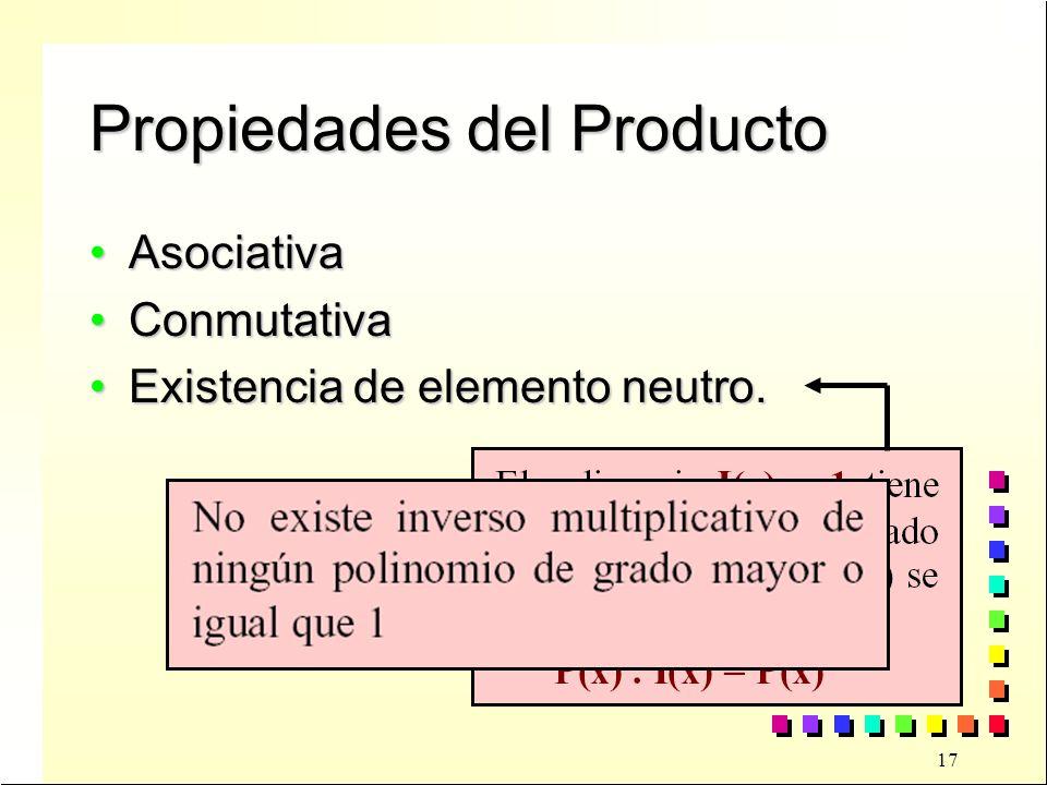 Propiedades del Producto