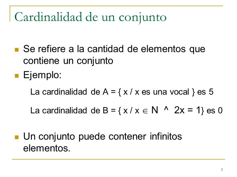Cardinalidad de un conjunto