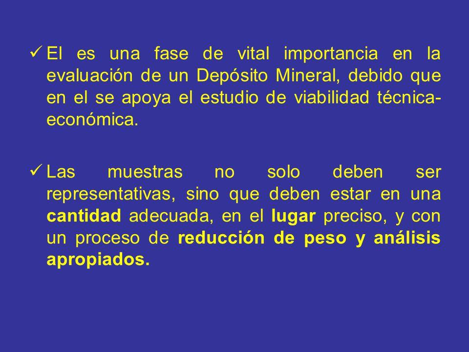 El es una fase de vital importancia en la evaluación de un Depósito Mineral, debido que en el se apoya el estudio de viabilidad técnica-económica.