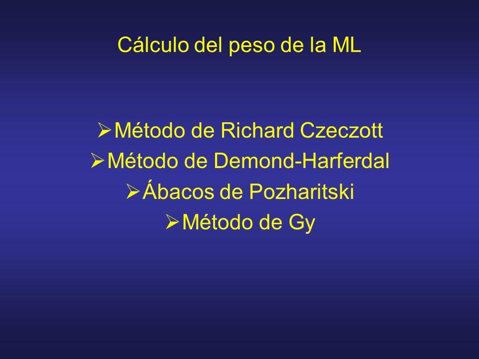 Cálculo del peso de la ML