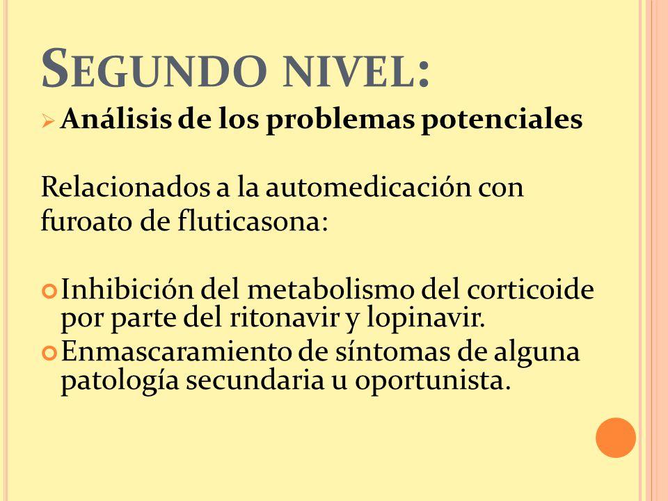 Segundo nivel: Análisis de los problemas potenciales