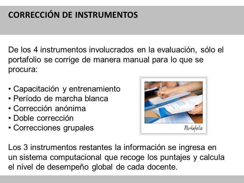 CORRECCIÓN DE INSTRUMENTOS
