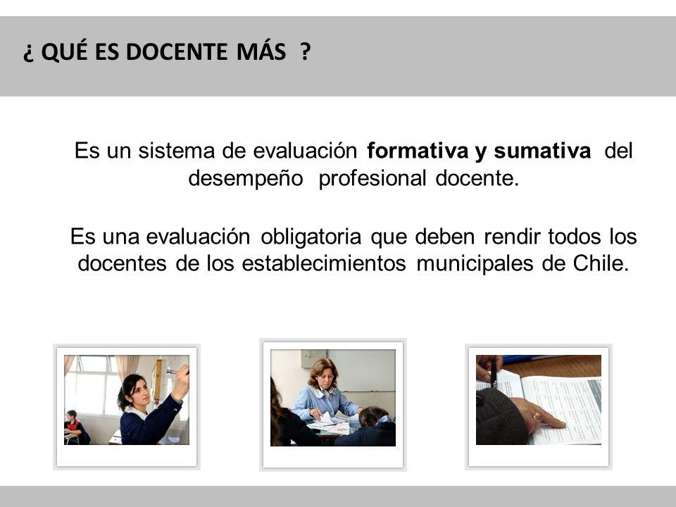 ¿ QUÉ ES DOCENTE MÁS Es un sistema de evaluación formativa y sumativa del desempeño profesional docente.