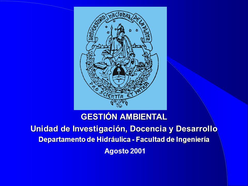 Unidad de Investigación, Docencia y Desarrollo Agosto 2001