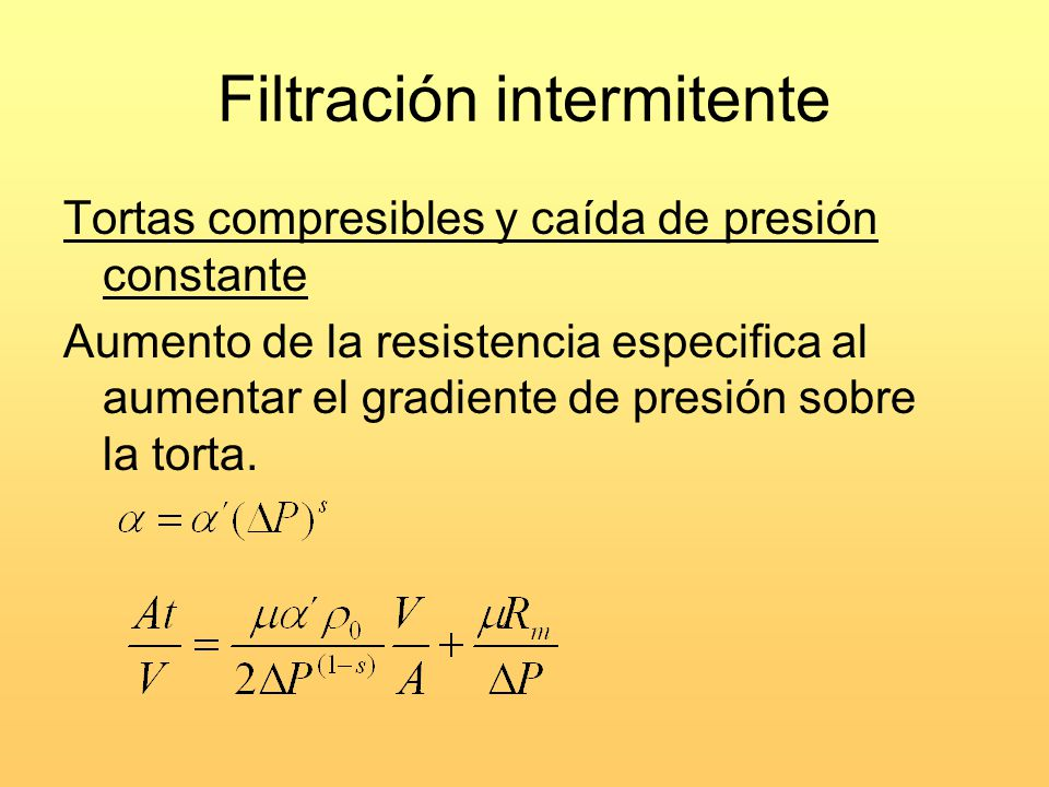 Filtración intermitente