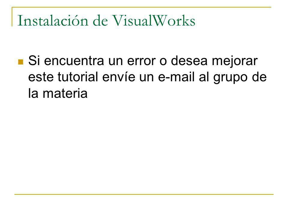 Instalación de VisualWorks
