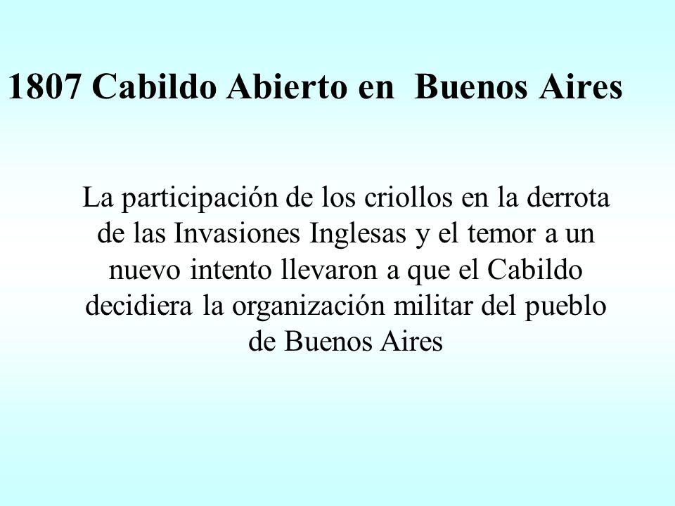 1807 Cabildo Abierto en Buenos Aires