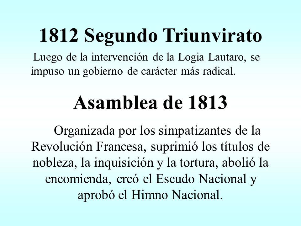 1812 Segundo Triunvirato Asamblea de 1813