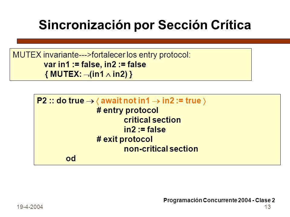 Sincronización por Sección Crítica