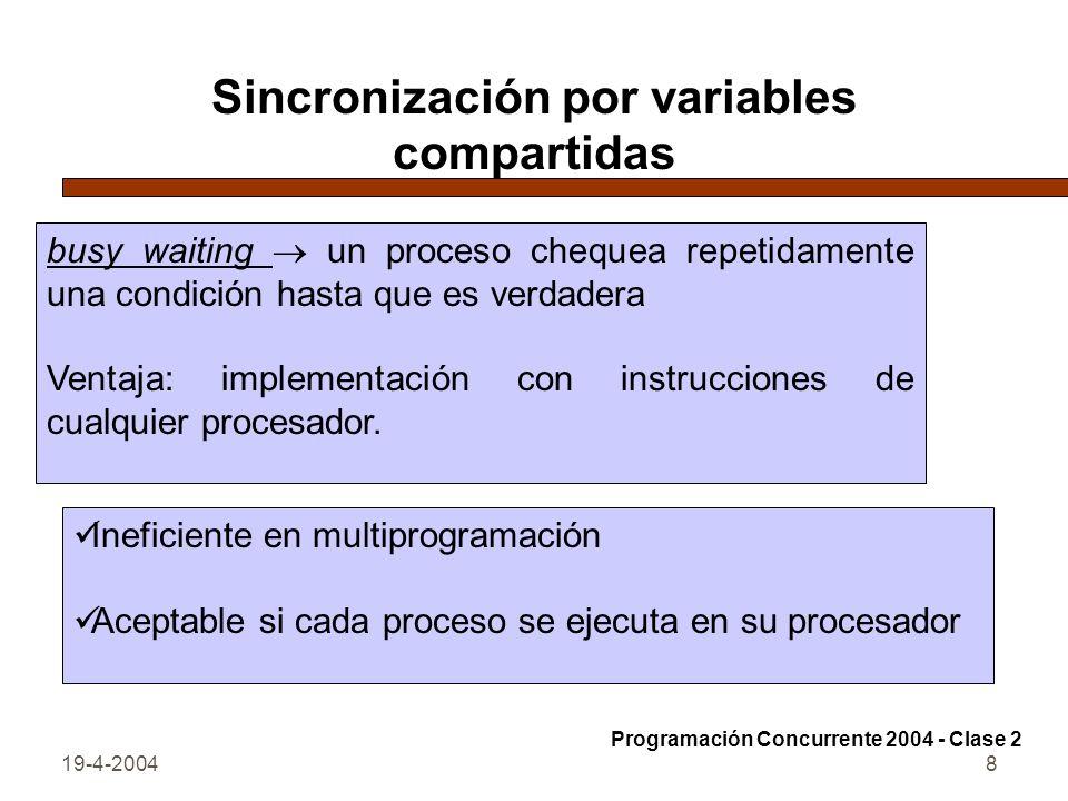 Sincronización por variables compartidas