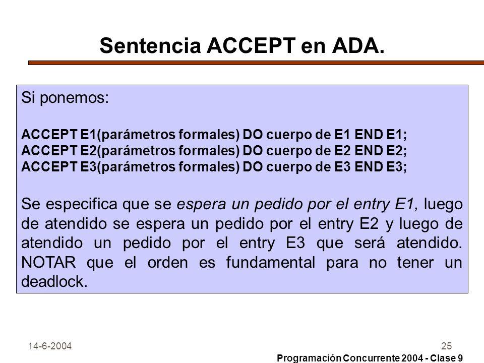 Sentencia ACCEPT en ADA.