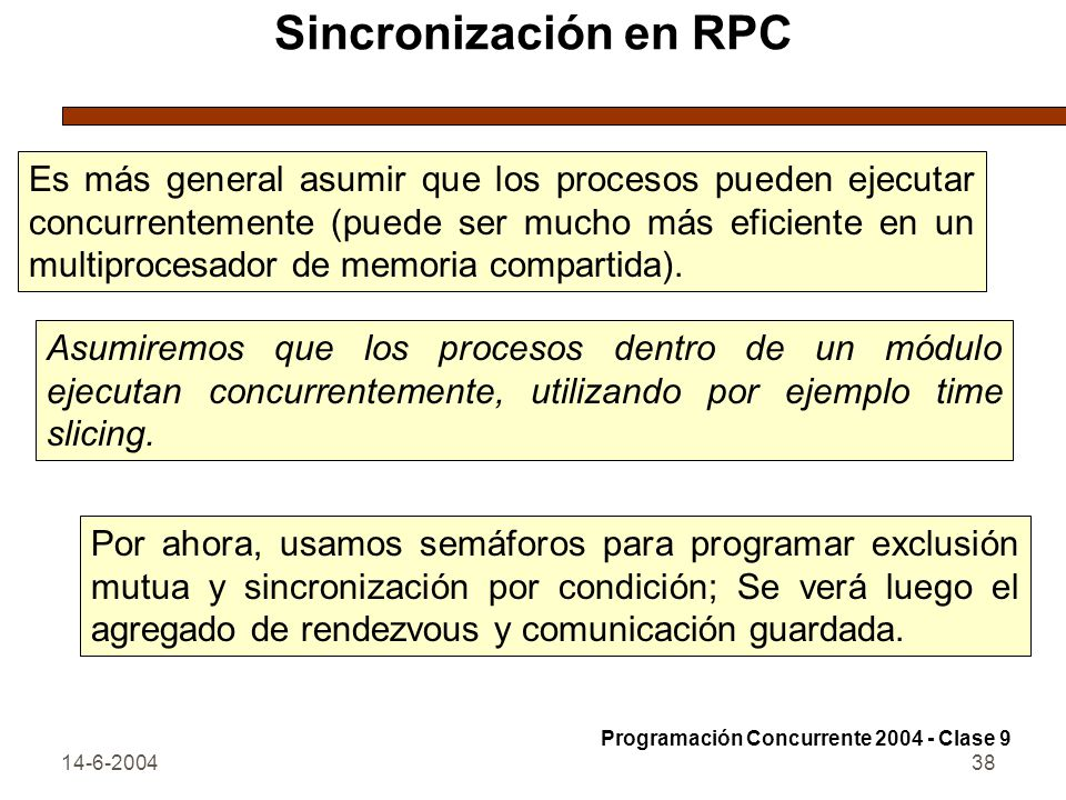Sincronización en RPC