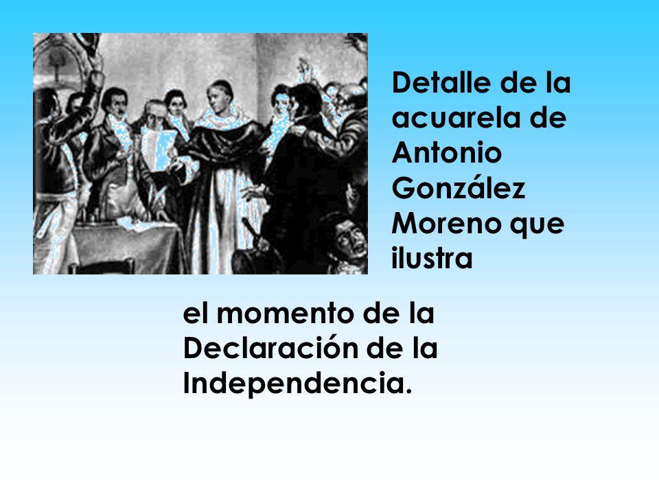 Detalle de la acuarela de Antonio González Moreno que ilustra