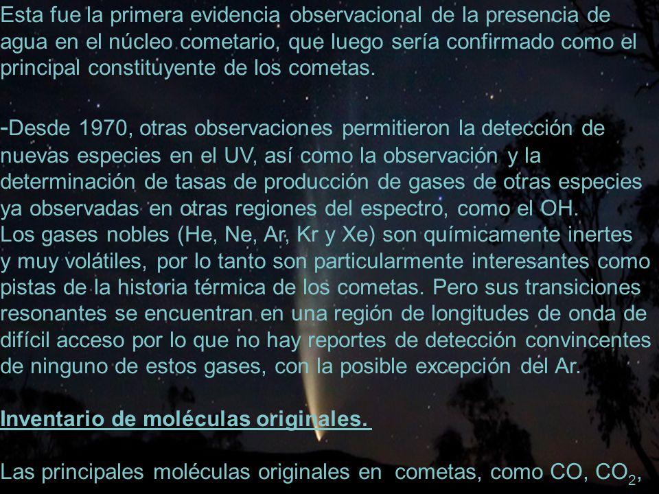 -Desde 1970, otras observaciones permitieron la detección de