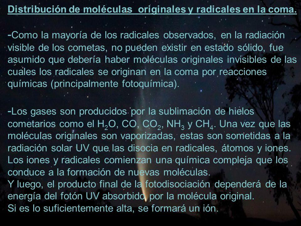 -Como la mayoría de los radicales observados, en la radiación