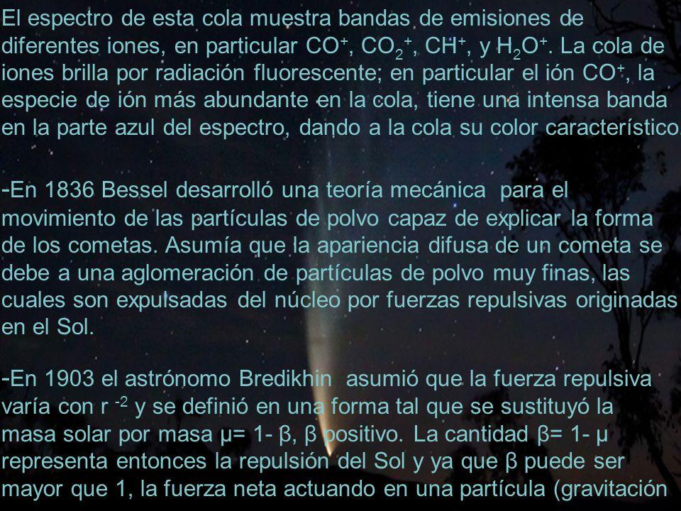 -En 1836 Bessel desarrolló una teoría mecánica para el