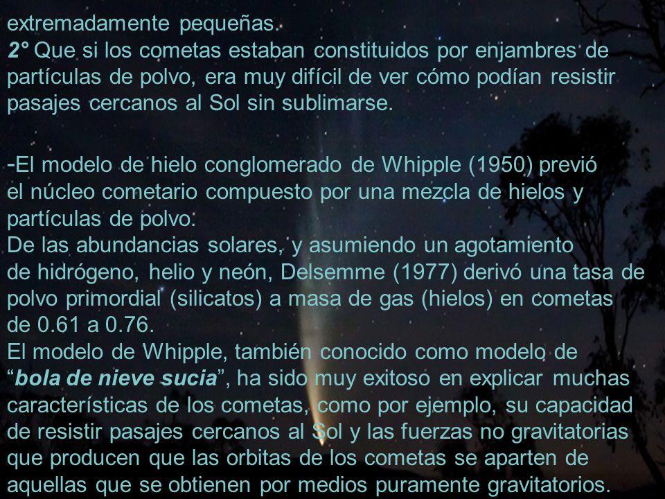 -El modelo de hielo conglomerado de Whipple (1950) previó