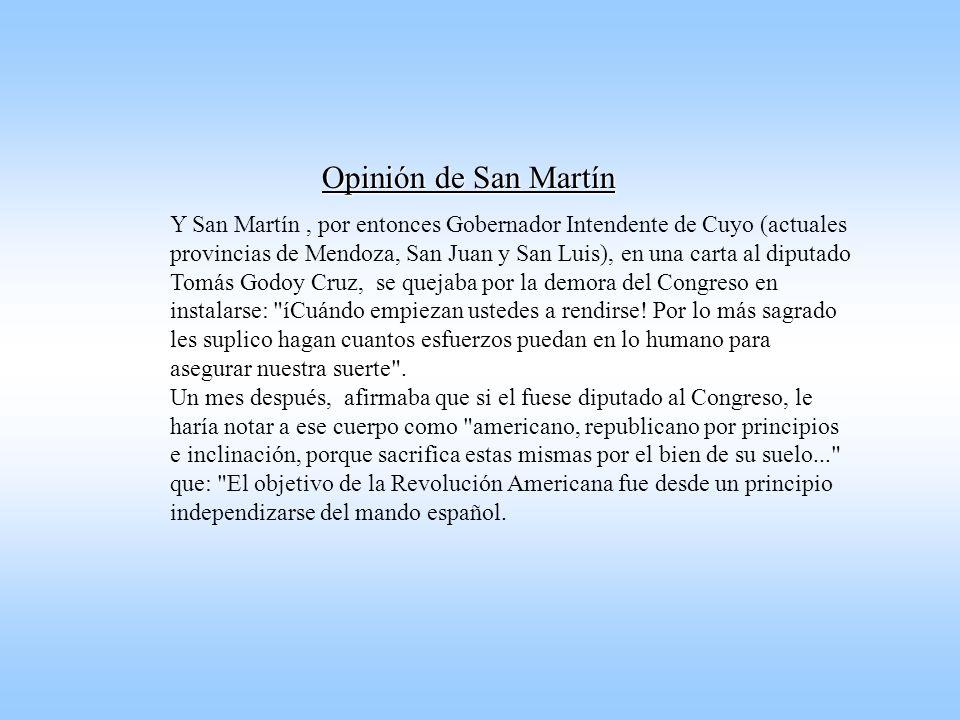 Opinión de San Martín