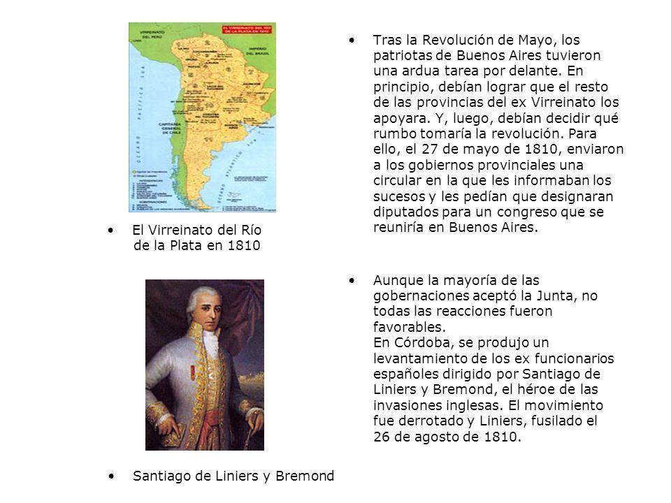 El Virreinato del Río de la Plata en 1810