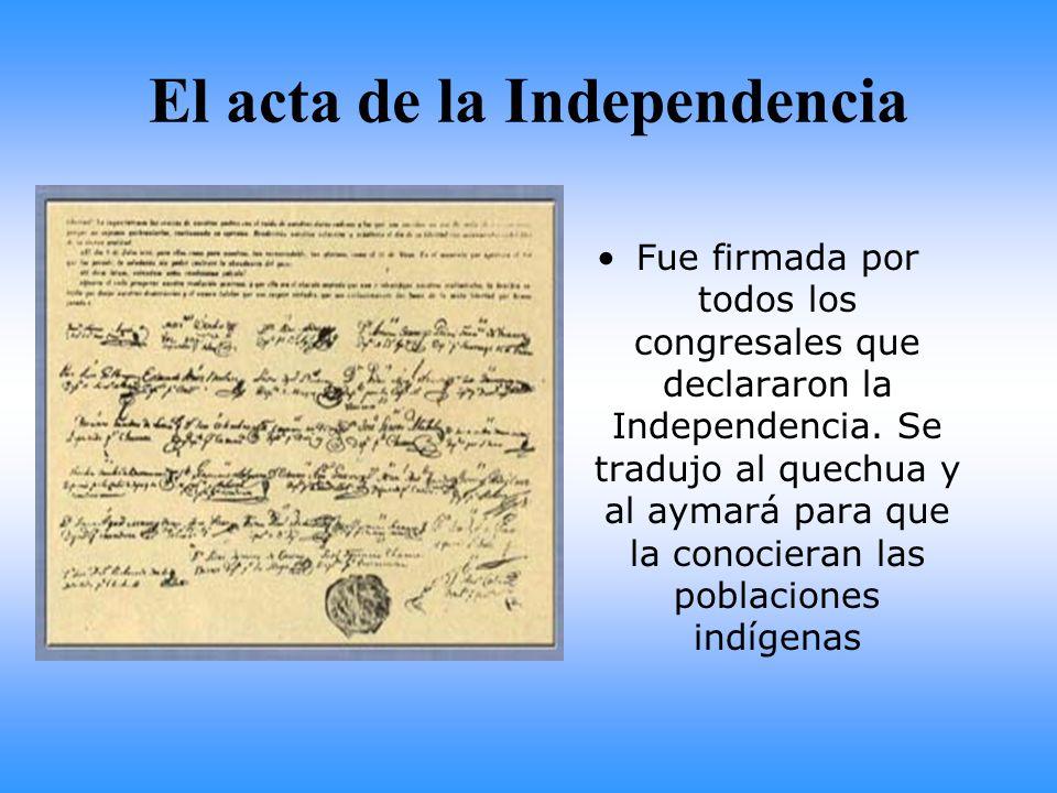 El acta de la Independencia