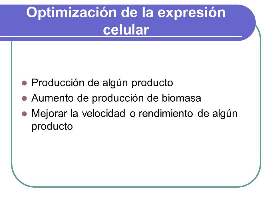 Optimización de la expresión celular