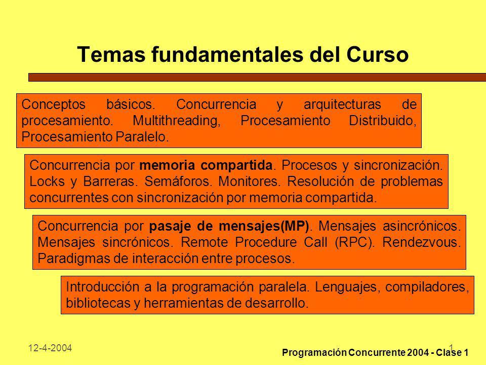 Temas fundamentales del Curso