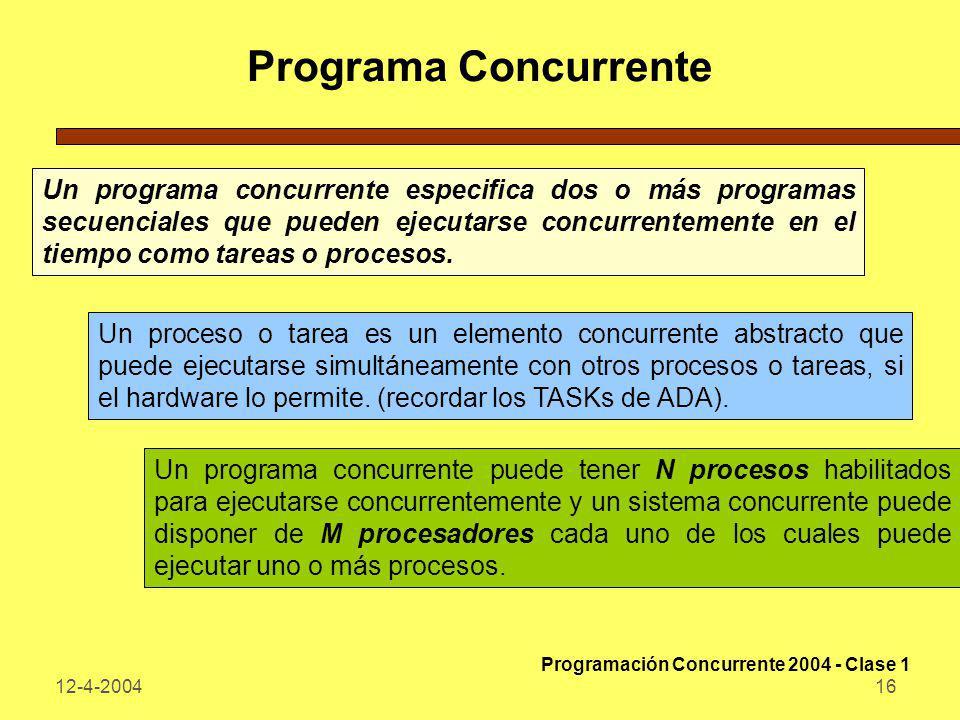 Programa Concurrente