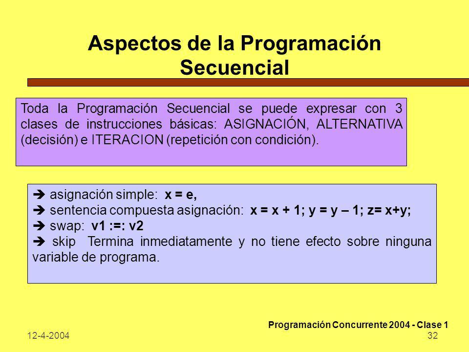 Aspectos de la Programación Secuencial