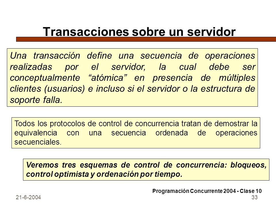 Transacciones sobre un servidor