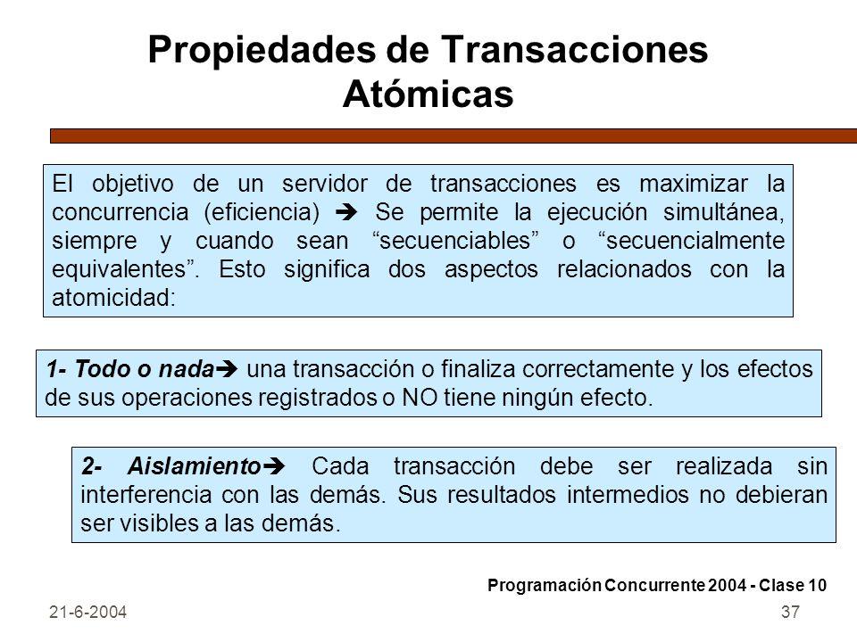 Propiedades de Transacciones Atómicas
