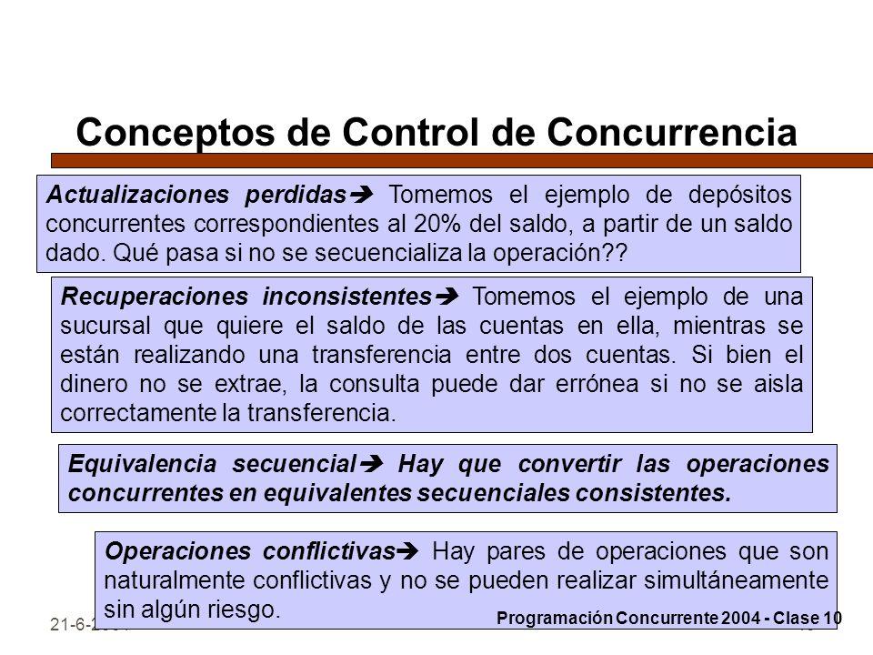 Conceptos de Control de Concurrencia