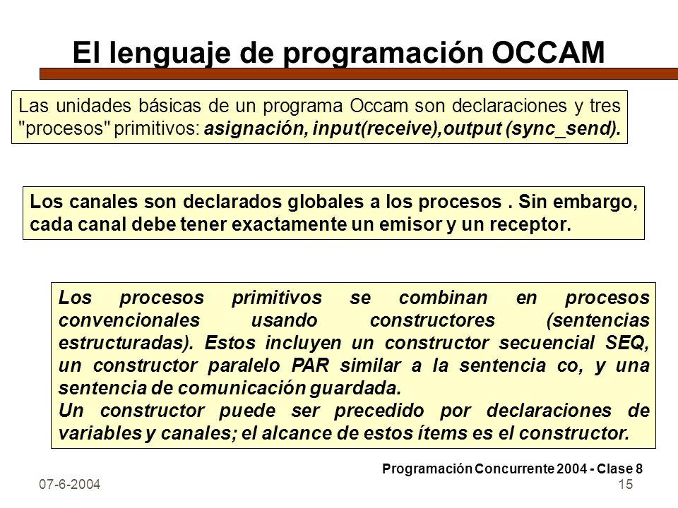 El lenguaje de programación OCCAM