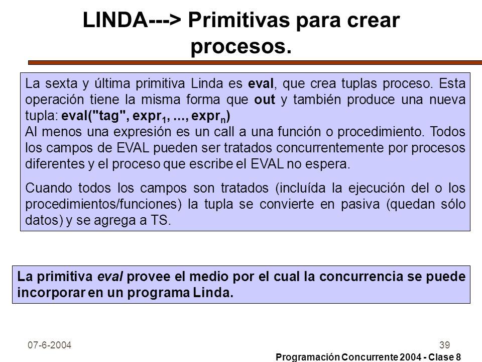 LINDA---> Primitivas para crear procesos.