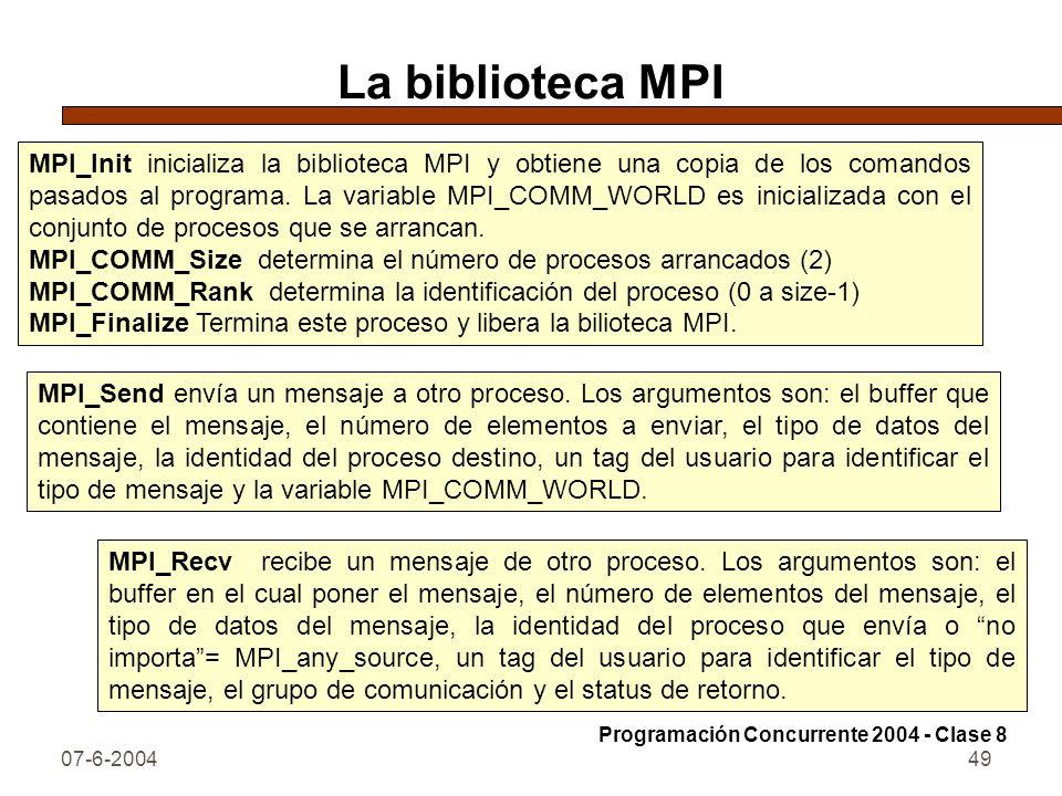 La biblioteca MPI