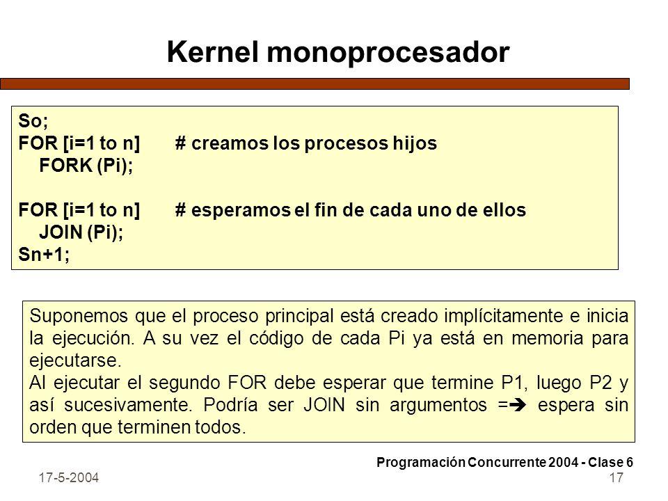 Kernel monoprocesador
