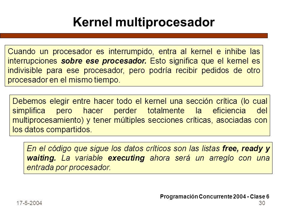 Kernel multiprocesador